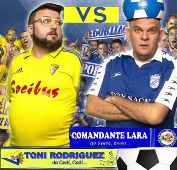 """""""El Derby"""" Toni Rodriguez y Comandante Lara."""